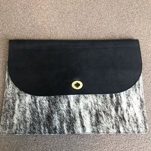 Genuine Leather Cowhide Clutch